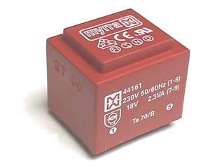 Print-Transformatoren EI 30/18, 2.3 - 2.8 VA